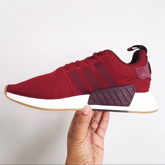 62f4c90e8638c Adidas NMD R2 Collegiate Burgundy Mens Shoes